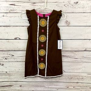 Hartstrings Mayan Brown Woven Dress